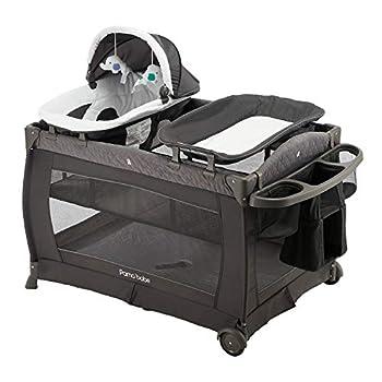Pamo Babe Deluxe Nursery Center Comfortable Playard for Babies  Grey