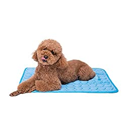 top 10 pet cooling mat Face Force Pet Cooling Mats – Dogs and Cats, Portable and Washable Pet Ice Silk Cooling Mats…