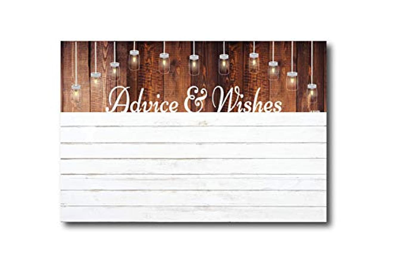 Advice and Wishes Cards | Rustic White Shiplap | Perfect for the Bride and Groom, Baby Shower, Bridal Shower, Graduate or Any Occasion 50 Ct. 4x6