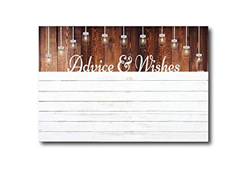 Advice and Wishes Cards   Rustic White Shiplap   Perfect for the Bride and Groom, Baby Shower, Bridal Shower, Graduate or Any Occasion 50 Ct. 4x6