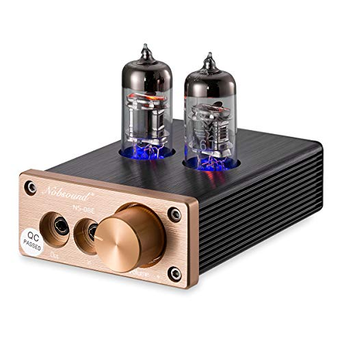 Nobsound NS-08E Vacuum Tube Headphone Amplifier Hi-Fi Valve Headphone Amp Stereo Audio Preamplifier