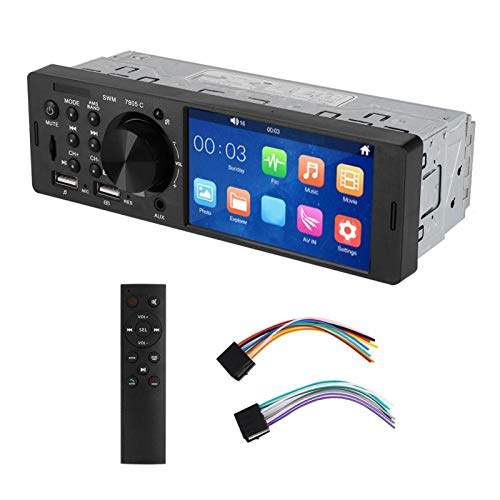 Reproductor de coche MP5, reproductor de música de radio FM estéreo de pantalla táctil de 12V 4 pulgadas Bluetooth MP5 HD