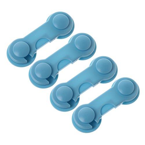 ShiftX4 Cerraduras de armario para niños, 4 cerraduras de seguridad para bebés sin dedos atrapados, instalación extra fácil, no necesita herramientas