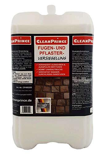 CleanPrince Fugen- und Pflasterversiegelung 5 Liter Fugenfestiger Sandfugen Splitt versiegeln Fugenversiegelung Fugen-Festiger Verfestiger Versiegler Versiegelung Fugenversiegelung