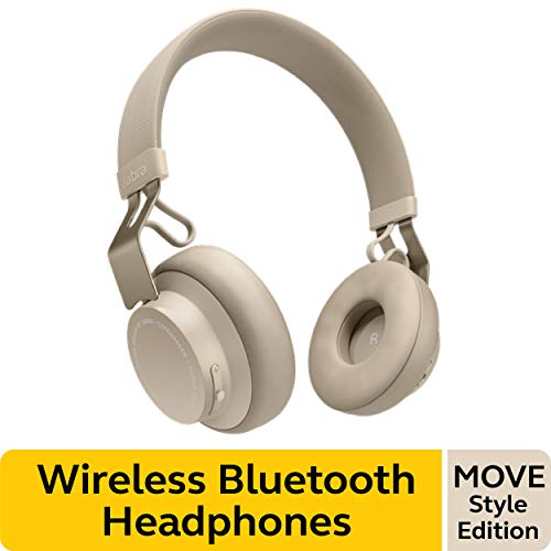 Jabra Move Style Edition, Beige – Wireless Bluetooth Headphones with Superior Sounds Quality, Long...