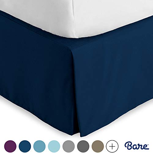 Bare Home Bed Skirt Double Brushed Premium Microfiber,...