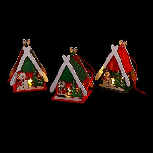 Uonlytech 3 piezas 3D de muñeco de nieve decoración farol funciona con pilas, muñeco de nieve luz nocturna iluminada para árbol de Navidad, fiestas, jardín de casa