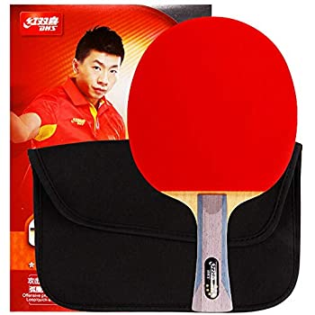 DHS Ping Pong Racket  Table Tennis  Paddle  6002 with Case Offensive 5-Ply Wood Shakehand