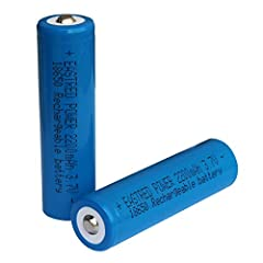 【Characters】3.7 Volt rechargeable ternary lithium ion batteries.2200mAh large capacity button top. 【Size】 65mm(2.56 in L)*18mm(0.71 in D) (NOT AA or AAA).The same size as 30Q, HG2, VTC6. 【Advantages】Low self-discharge,voltage stability,Fast charging,...
