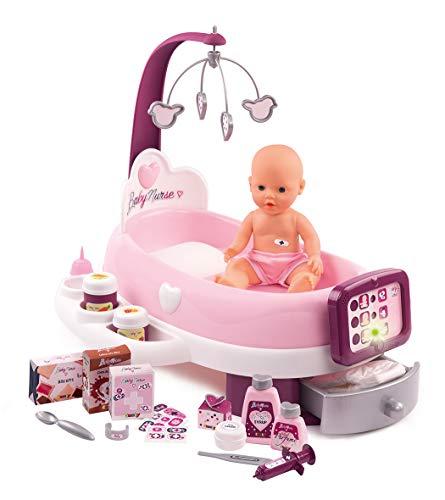 Smoby - 220347 - Baby Nurse - Nursery Electronique - + 1 Poupon Fonction Pipi - 24 Accessoires Inclus