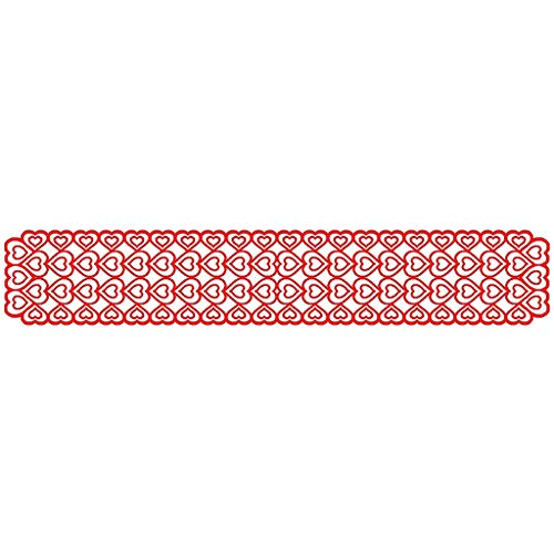 Valentine's Day Table Flag Decoration Red Knitted Love Table Flag, Home Decor, For Valentine's Day, Easter, St. Patrick's Day
