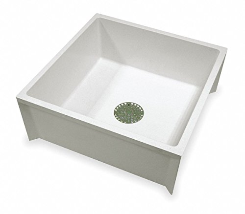 Mustee 24' x 24' x 10' White Mop Sink, 10' Bowl Depth, Durastone