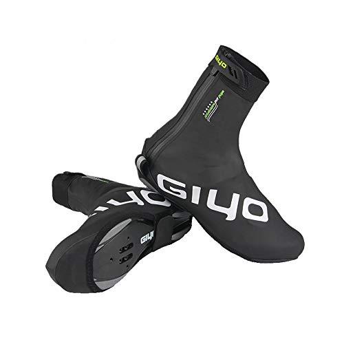 AIRFRIC シューズカバー サイクル 靴 カバー 防寒 防風 防水 雨よけ 滑り止め ロードバイク 夜間 使用可 DRD-100-BK-XL