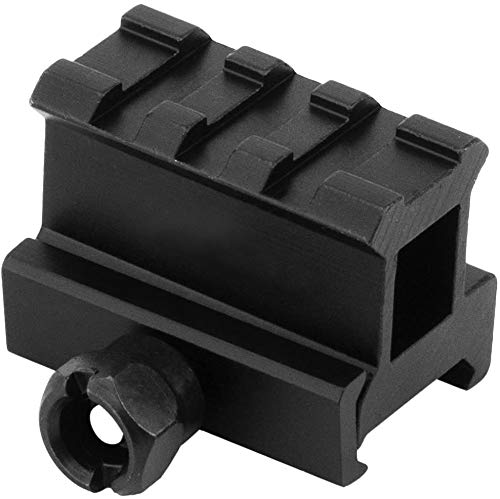 """Monstrum High Profile Picatinny Riser Mount (1"""" H x 1.5"""" L) for Red Dots"""