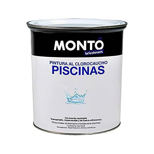 Pintura al Clorocaucho piscinas hormigón Bricolovers (Blanco Caribe 102, 12L)