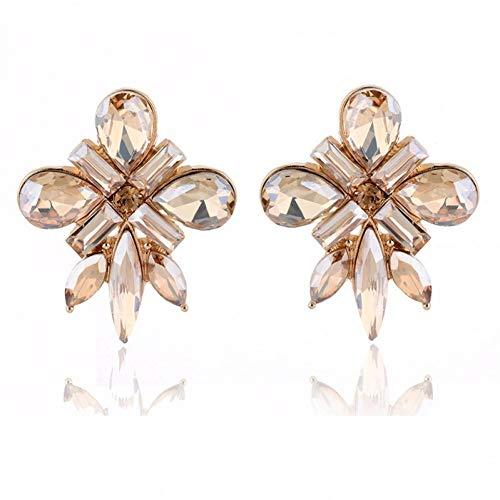 XCWQ Dames Oorbellen Aankomst Mode Stud Oorbel voor Vrouwen Metalen Legering Bloemen Acryl Steen Piercing voor Meisjes