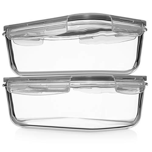 8 Cups/ 63 Oz Large Glass Food Storage