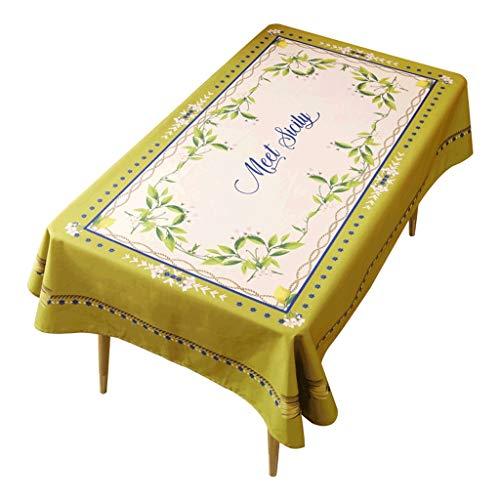 Tafelkleed van katoen en linnen, eettafel, pastoral salontafel, rond, salontafel, salontafel Little
