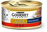 PURINA GOURMET Gold Feine Pastete Katzenfutter nass, mit Rind, 12er Pack (12 x 85g)