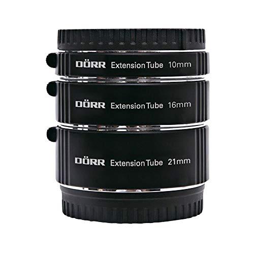 Dörr 323025Entre Juego Anillo (10/16/21mm) para Fujifim X y la Cerca de/fotografía Macro Negro