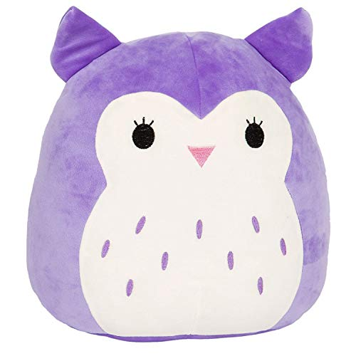 Squishmallow Kellytoy 16' Holly The Purple Owl Super Soft Plush Toy Pillow Animal Pet Pal Buddy (Holly The Purple)