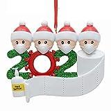 NZBⓇ Weihnachtsbaum Anhänger - DIY Weihnachtsdekoration Weihnachtsmann Trägt Eine Mundschutz Familie Weihnachtsbaum Niedlich Dreidimensional Weihnachtsschmuck weihnachtsschmuck überlebende