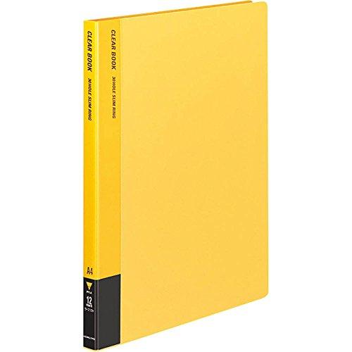 コクヨ ファイル クリアファイル 替紙式 A4 12枚 黄 ラ-710Y
