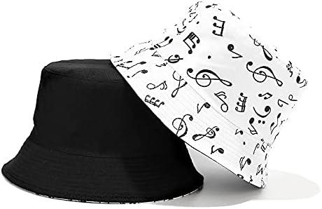 Bucket Hat Beach Fisherman Hats Sun Hat for Women Men Reversible Double Side Wear