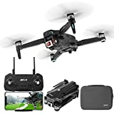 aovo GPS Drone with 4K Camera for Adults, UHD FPV RC Drone Quadcopter Auto Return Home Follow Me Brushless Motor 30mins Flight Time Foldable Drones for Beginners