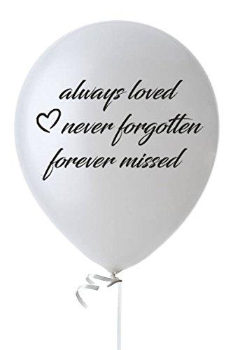 Biodegradable Funeral Balloons- 25 White Elegant Memorial Balloons- Remembrance White Balloons- Memory Table Décor- 12