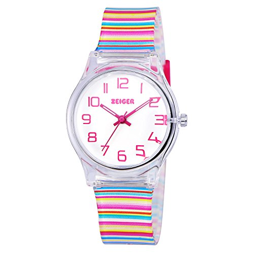 Zeiger KW036 - Orologio da polso Bambina, colore: Multicolore