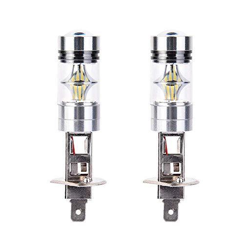 Refaxi 2pcs H1 6000K LED Kit Ampoules Phares Brouillard Conduite Lampe Super Blanc 100 W Ampoules Halogènes