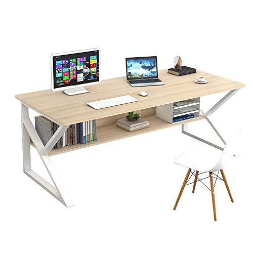 XLO Workstation grande scrivania per computer, scrivania per ufficio, scrivania per PC, computer portatile, scrivania per giochi in legno, per casa e piccolo spazio ufficio tavolo