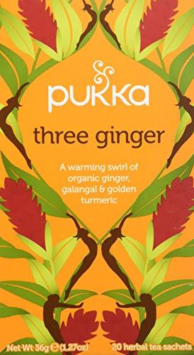 Pukka Three Ginger Infuso Zenzero, Galangal, Liquirizia e Curcuma - 36 g