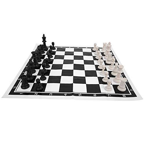 Vbest life Juego de ajedrez internacional portátil de viaje de plástico con tablero de ajedrez plegable