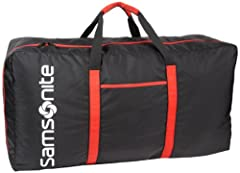 420 Denier Nylon, 6,400 cubic inches capacity Extremely Lightweight and each duffel only weights only 1 pound when empty Works great for travel or storage and its uses are endless. No RFID protection Collapsible for easy storage wen not in use and ho...