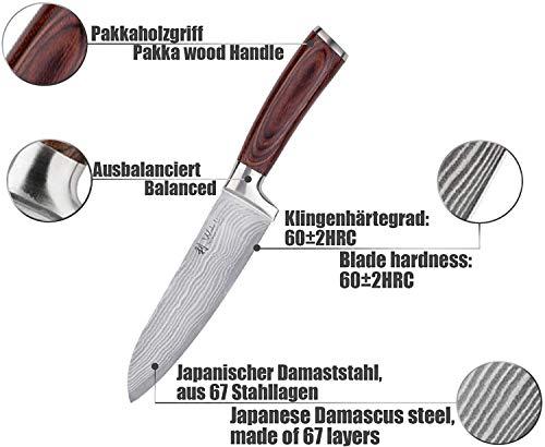 Wakoli 3er Damastmesser Set in Holzbox – VG-10, Edib - 3