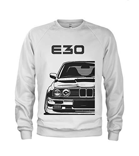 1/4 Mile Kult E30 M3 Herren Sweatshirt #1957 (2XL, Weiß)