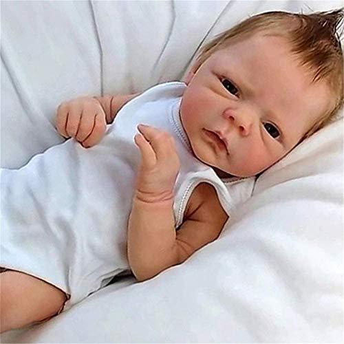 ZXYMUU Bebé títere ponderado Corporal renacido bebé niña muñeca muñeca de Vida muñecas recién Nacidos bebé 18'/ 46cm Realista Suave ponderado