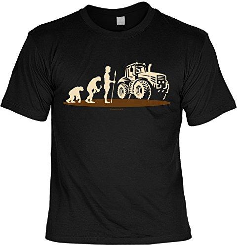 Art & Detail Shirt Traktor Fun Tshirt Evolution AFFE NeanderTaler Mensch Traktor - Farmer mit SPAß-Urkunde