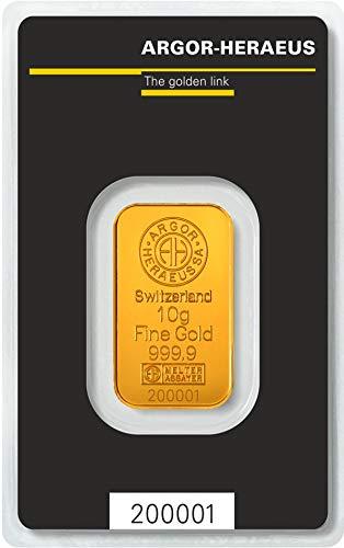 Argor-Heraeus 10g Goldbarren 999.9 Blister