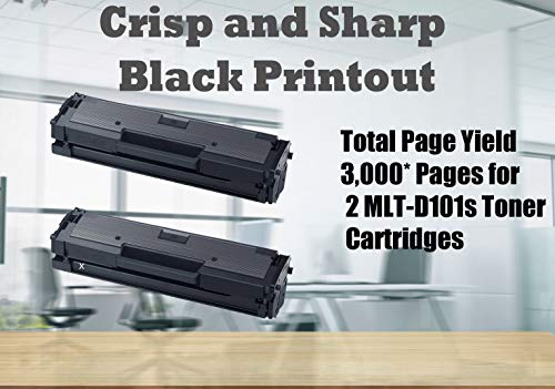 4Benefit Compatible Toner Cartridge Replacement for Samsung MLT-D101S ML-2165W SF-760P SCX-3405FW ( Black , 2 pk ) Photo #3