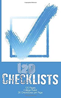120 Checklists: 26 Blank Checkboxes on Every Page