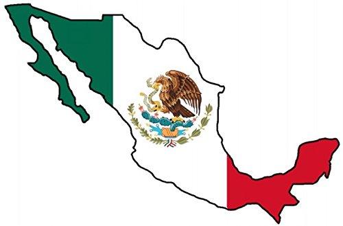 "Auto Aufkleber \"" MEXIKO \"" Sticker Mexico Konturgeschnitten (ca. 11x8 cm)"