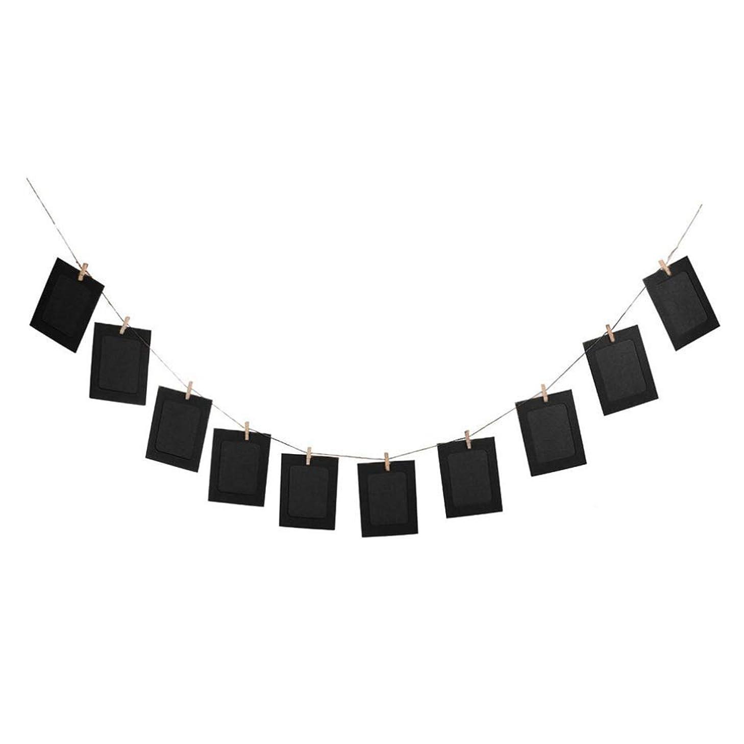 有益代わって戦いDXX-HR ウェディングガーランド壁の装飾のための10pcs DIY 6インチ吊るすアルバムクリップクラフト紙フォトフレームストリングスロープクリップセット