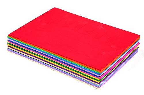 Confezione da 30 fogli in schiuma EVA da 2 mm, multicolore, formato A4, per scrapbooking, decorazioni artistiche e decoupage