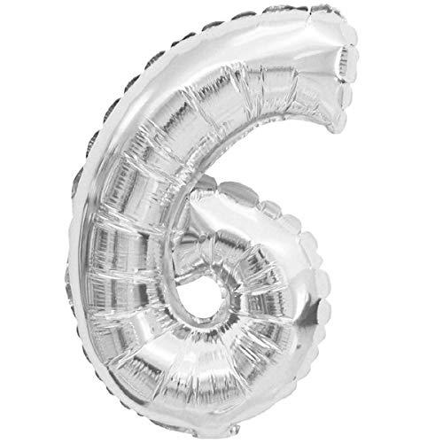 XXL LUFTBALLONS Folien-Ballons Heliumballons Buchstaben & Zahlen & Zeichen - 80CM GROßE Party-Dekoration XL für Geburtsag Hochzeit Feier - 6