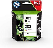 HP 303 3YM92AE, Negro y Tricolor, Cartuchos de Tinta Originales, Pack de 2, compatible con impresoras de inyección de...