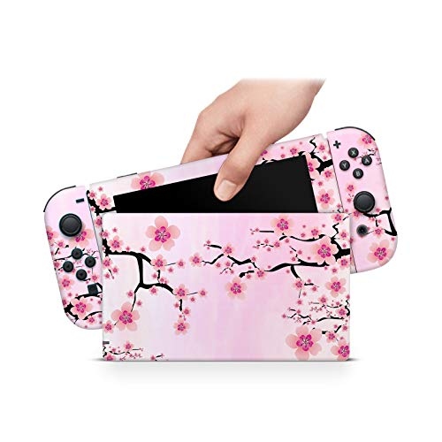 ZOOMHITSKINS Blossom Traditional Fancy Pink Japanese Garden Famous Sakura High Quality 3M Vinyl Decal Sticker Wrap, Bubble-free Install, Goo-free Removal, Nintendo Switch Compatible, Made in the USA