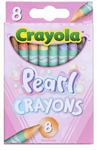 Crayola Pearl Crayons 8 Count